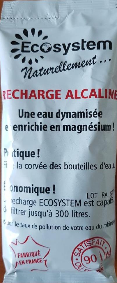 recharge alcaline 250 litres 2 mois  pour pichet filtrant