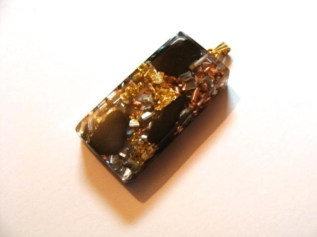 Rectangle Pendentif shungite Dore