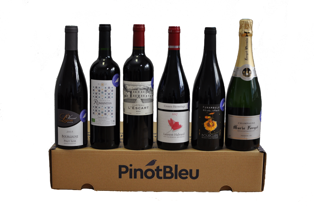 Coffret de 6 vins Bio - Coffret Rouges et Champagne