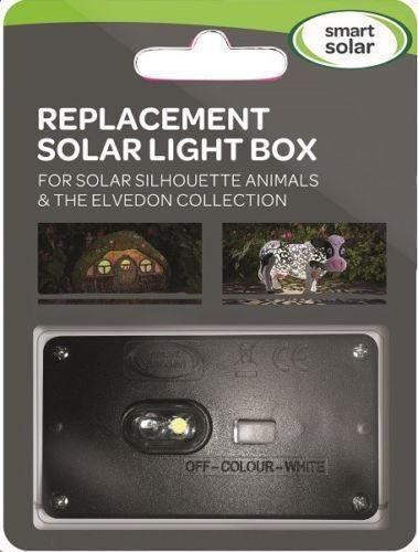 Bloc solaire de remplacement pour animaux en métal