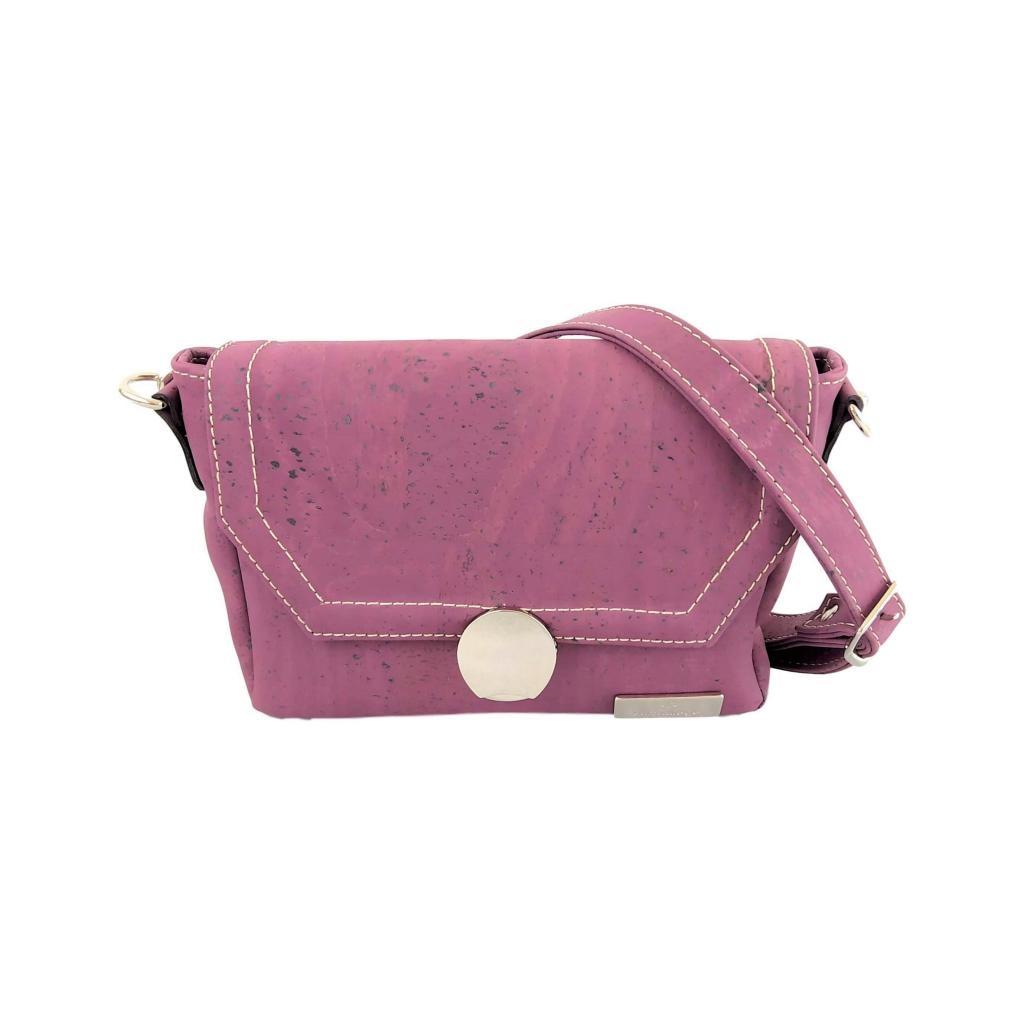 petit sac bandoulière en liège violet