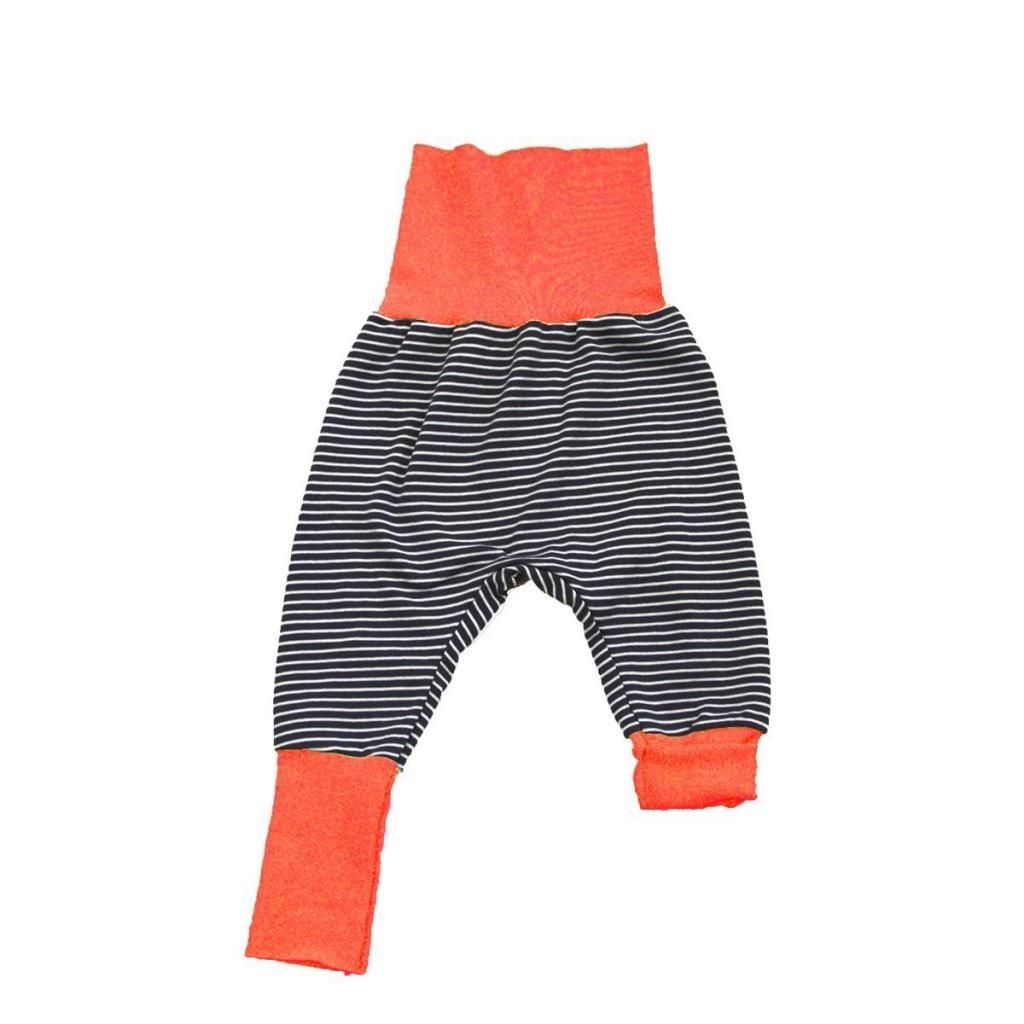 Sarouel évolutif en jersey rayé bandeau orange