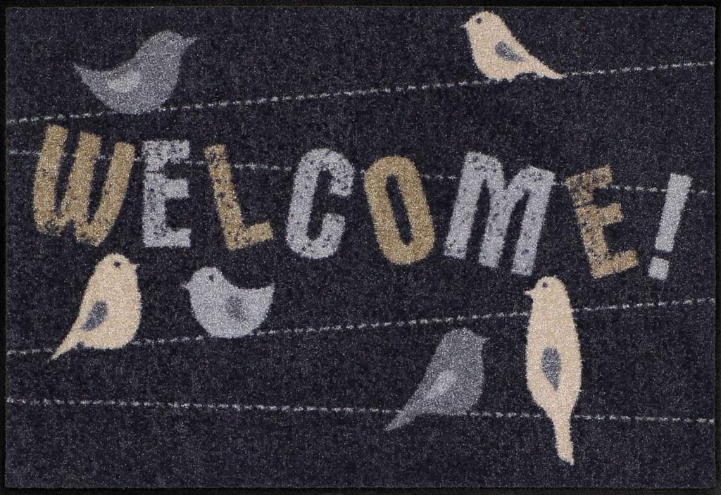 Paillasson / tapis antidérapant et lavable thème oiseaux