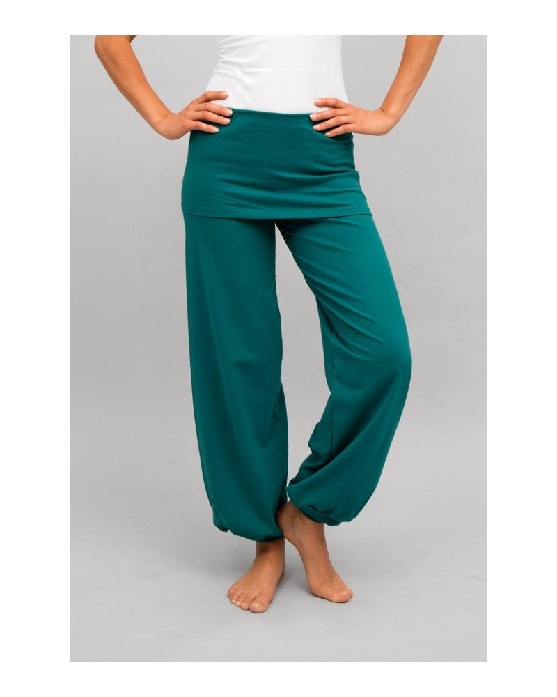 "Pantalon de yoga ""Sohang"" de ""Breathe of Fire"" jade"