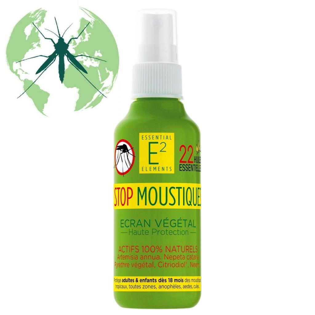 E2 Spray Anti Moustiques protecteur et apaisant 100 % naturel 100 % efficace Adultes et Enfants