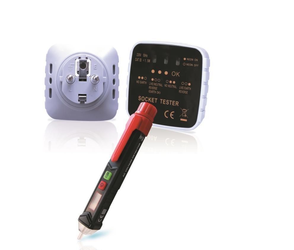 Testeur terre et testeur de tension électrique