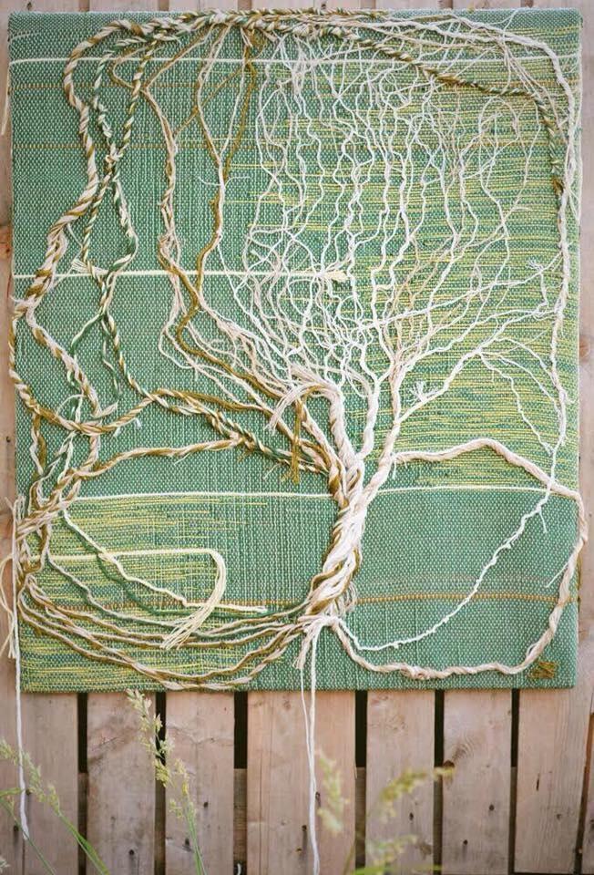 Tapisserie luminaire,  arbre de vie, pièce unique 70/80 cm pièce unique