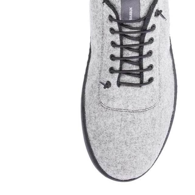 Baskets SNEAKERS 100% laine Urban Wooler GRIS CLAIR unisexe