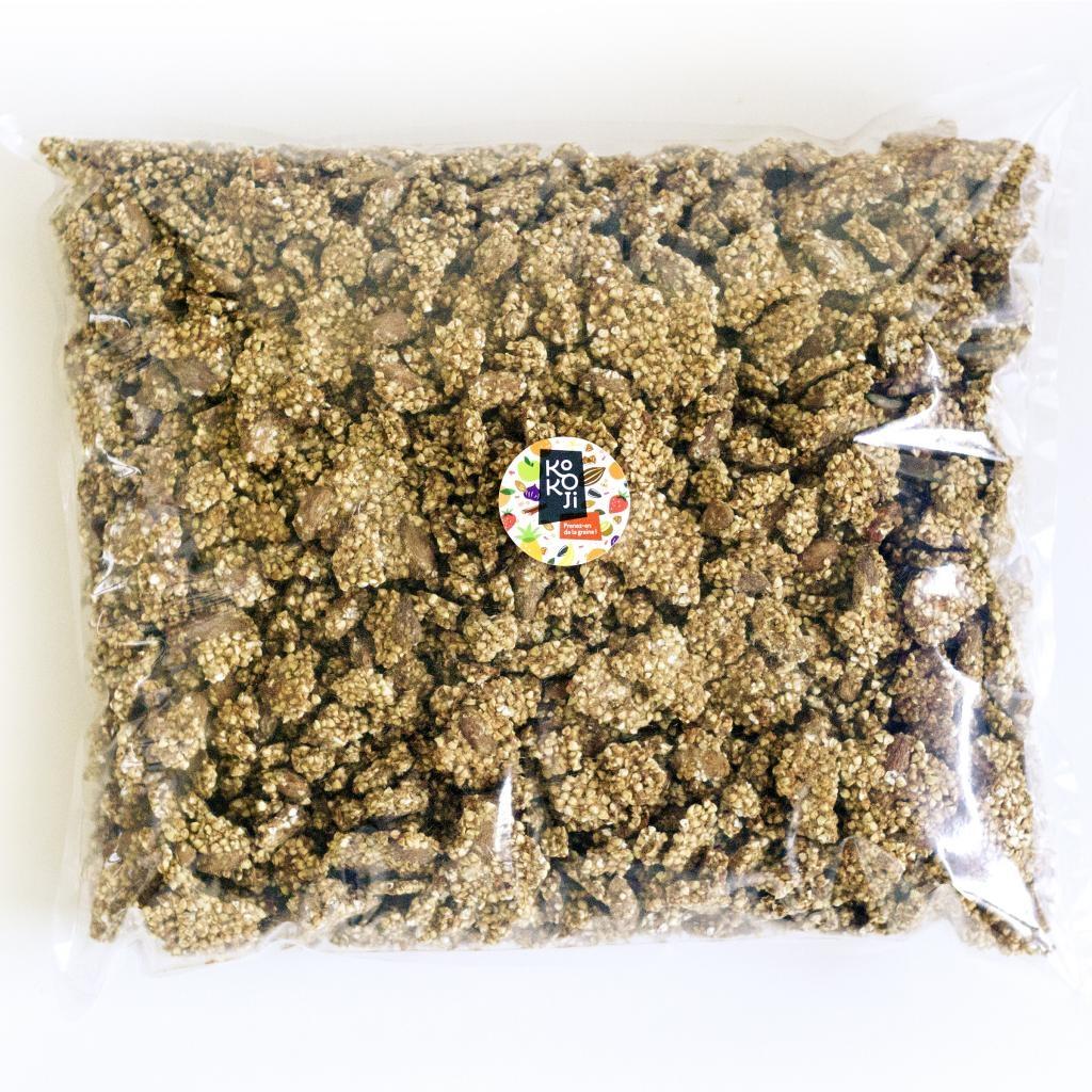 Muesli croustillant Pomme Cannelle (granola) - sans gluten - sac vrac de 5 kg