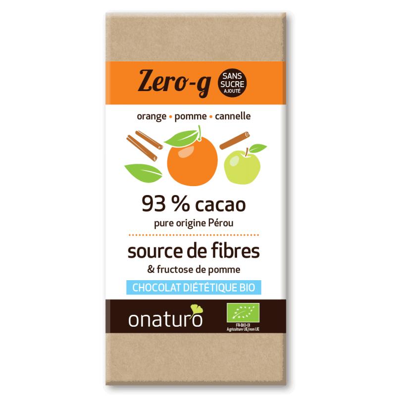 Onaturo - Zero g chocolat sans sucre ajouté