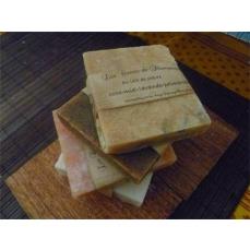 Shampoing solide ou carré de shampoing coco miel palmarosa lavande environ  140 g