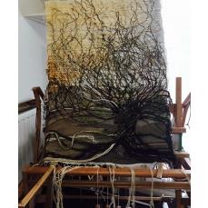Tapisserie arbre de vie luminaire pièce unique 120/80cm