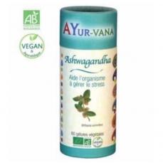 ASHWAGANDHA BIO (Ginseng indien ) - 60 Gélules  - Ayurvana