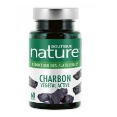 Charbon végétal activé - Boutique Nature - 60 Gélules
