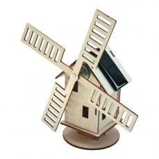 Maquette Moulin Hollandais solaire en bois