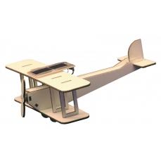 Maquette Biplan Solaire en bois