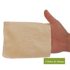 5 gants de change bébé en coton bio biface - gamme eco chou les Tendances d'Emma