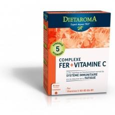 Complèxe Fer + Vitamine C - 30 Comprimés - DIETAROMA
