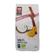 Biscuits sablés noix de coco biologique 125gr