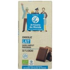 Chocolat au lait équitable et bio - 100gr