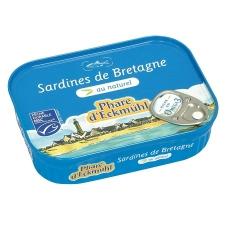 Sardines de Bretagne au naturel - 135g - Phare d'Eckmühl