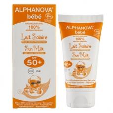 Lait Solaire Bio Bébé  Indice 50+ - 50g -Alphanova Sun