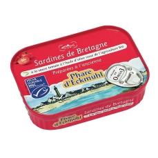 Sardines à la sauce tomate à l'huile d'olive bio - 135g - Phare d'Eckmühl