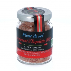 Fleur de Sel au Piment d'Espelette Bio, 70 g