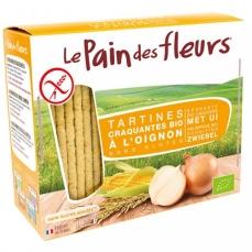 LE PAIN DES FLEURS - Tartines craquantes à l'oignon sans gluten bio