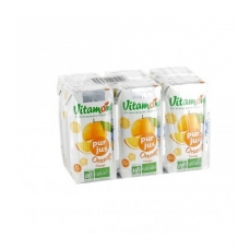 VITAMONT - Pur jus d'orange bio - Pack de 6 mini briques