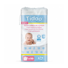 Maxi carrés de coton pour bébé (x50) bio