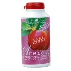 Acérola 1000 sans sucre - arôme fruits rouge - 90 comprimés 25% de vitamine c