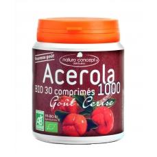 Acérola 1000 bio - arôme fruit rouge bio - 30 comprimés 17% de vitamine c