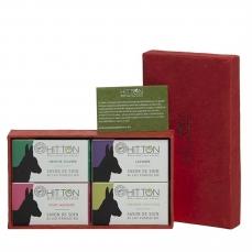 Coffret cadeau 4 savons 30 % de lait d'ânesse Hitton HITTON