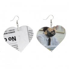 All about Love...Boucles d'oreilles Universal Love  en papier journal recyclé