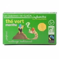 JARDINS DE GAÏA Thé Vert Menthe bio & équitable