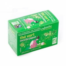 JARDINS DE GAÏA - Thé vert sencha Japon (infusettes)