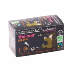 JARDINS DE GAÏA - Thé Noir Pu-Erh (infusettes)