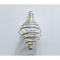 spirale métal argenté