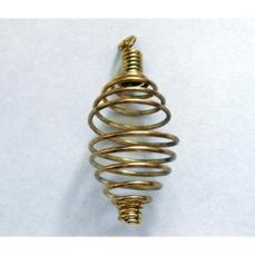 spirale métal doré