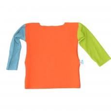 T-Shirt manches longues orange vert bleu