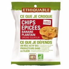 ETHIQUABLE - Chips épicées Banane Plantain
