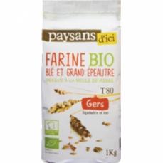 PAYSANS D'ICI - Farine de Blé et épeautre T80