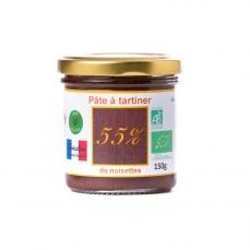 Pâte à tartiner bio 55% de noisettes - 150g