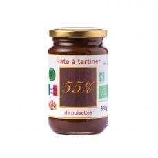 Pâte à tartiner bio 55% de noisettes - 380g