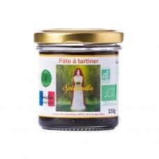 """Pâte à tartiner bio à la spiruline """"Spirunella"""" - 150g DLUO: 18/01/2020"""