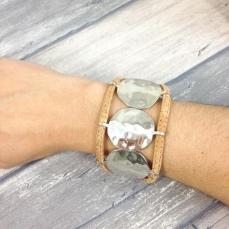 Bracelet manchette naturelle en liège Tiphaine