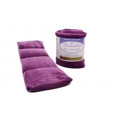 Eco-conseils® - Bouillotte micro-ondes en velours  - 100% naturel - Utilisation polyvalente (Raisin)
