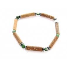 Bracelet de Noisetier | Agate Mousse | Hématite | Modèle 1 | 15cm