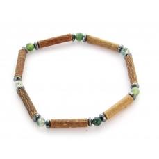 Bracelet de Noisetier | Agate Mousse | Hématite | Modèle 1 | 16cm